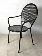 Ensemble de 4 chaises de jardin vintage 60's