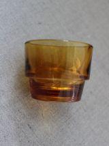 Vintage Français ENSEMBLE DE 6 VERRES ambre