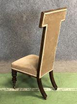 Chaise à dossier haut époque Victorienne en acajou