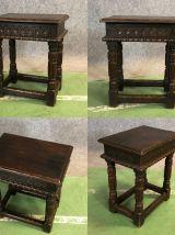 Table d'appoint en chêne XIXème