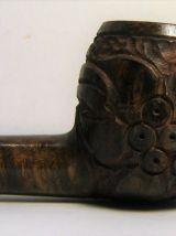 Pipe à fumer longue vieille bruyère sculptée OSA