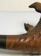Pipe à fumer courte sculptée forme de serre d'aigle