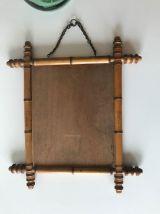 Miroir antique en bambou