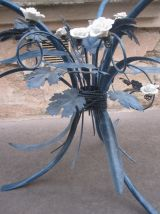 table basse moderne  classique fleur