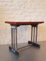 Table basse de ferme en chêne ciré vintage