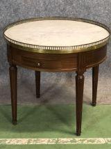 Table bouillotte années 50 en acajou
