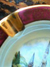 cendrier-vide poche porcelaine d'art de limoges