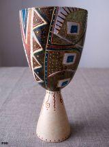 Verre  ciboire  décoratif peint à la main -