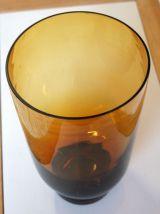 Vase en verre soufflé et fumé terra cota – circa 70