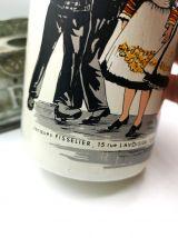 Bouteille en ceramique vide liqueur fraise de plougastel