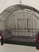 Cage à oiseaux ancienne, décoration de jardin ou de véranda