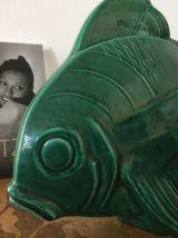 Poisson céramique signé Lejan années 30