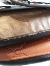 4 chaises en vinyle marron