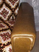 Canapé convertible + 2 fauteuils skai Vintage