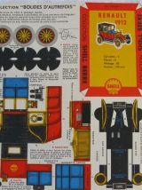Maquette Shell Berre, ancien cartonnage publicitaire de Shel