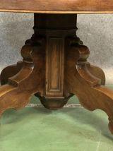 Table à allonges Charles X en noyer XIXème