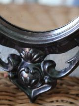 Petit miroir noir style baroque vintage