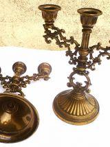 Chandeliers ancien en metal  , vintage