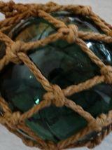 Vintage flotteur ancien en verre estampillé  LV