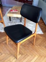 Série de quatre chaises scandinaves