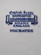 6 assiettes plates  en faïence English Adans  England