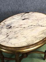 Guéridon Louis XVI XIXème dessus marbre