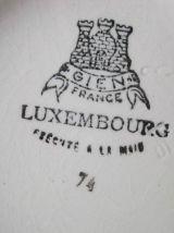 """Verseuse ancienne en faïence de Gien modèle """"Luxembourg"""""""