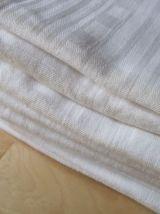 9 grandes serviettes de table en coton ancien