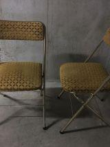 Paire de chaises de salon pliantes années 60