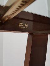 Console Ciatti, bois, verre et métal