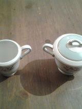 Jolis sucrier et pot à lait K&G Luneville
