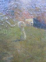 ancienne peinture huile