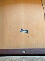 Suite de quatre chaises traineau Casala en teck vintage anné
