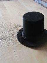 Chapeau femme bibi voilette noire vintage