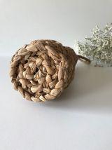 Bouteille décorative bohème avec osier tressé