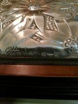 2 boîtes à bijoux en argent 925bois et incrusté de nacre