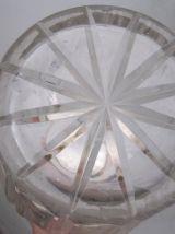 Pichet a orangeade cristal métal argenté