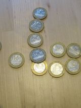 lots de 11 pieces francs .10 de  10 francs .1 de 20 francs