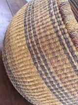 Ancien  grand  panier rond africain.
