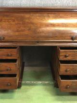 Bureau à cylindre époque Victorien XIXème en acajou