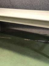 Table de ferme début XXème en sapin patine blanche mate