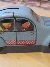 boite de biscuit  forme voiture tirelire