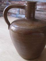 Pichet ,cruche broc en gres ancien vitange