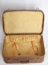 Valise en tissu et cuir