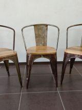 Chaise industrielle vintage vieillie