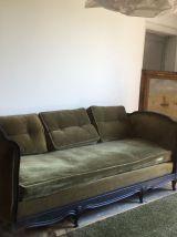 Canapé banquette  velours vert