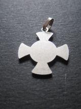 médaille croix SAINT ANTOINE métal blanc ancienne fab France