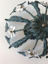 Plafonnier ancien fleurs style maison Baguès