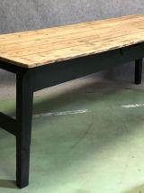 Table de ferme début XXème, piétement noir mat
