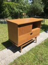 Petite enfilade meuble HiFi vintage 1950 pieds compas